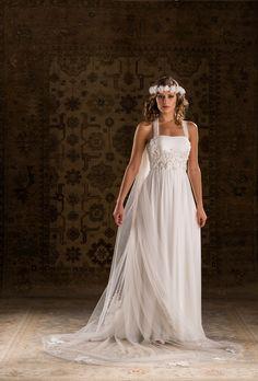 Aimee Joyce Young, Bridal Gowns, Wedding Dresses, Cute Fashion, Chiffon, Bohemian, Bride, Elegant, Hair Styles