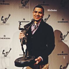 Well-deserved hardware for Fred VanVleet, our Missouri Valley Conference Player of the Year. Wsu Shockers, Missouri Valley, Wsu Basketball, Wichita State, Larry Bird, Sports, State University, Conference, Hardware