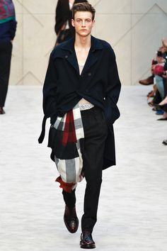 Oxblood, Natural and Black Burberry Prorsum  F/W 2014-15