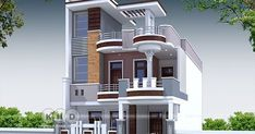 4 bedroom decorative style contemporary house plan by S. Contemporary House Plans, Contemporary Style, Indian House, Duplex House Plans, House Front Design, Agra, Homes, How To Plan, Mansions