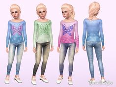 Fly Away outfit for kids by Alexandra - Sims 3 Downloads CC Caboodle