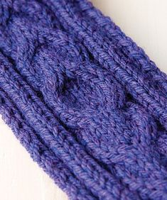 A headband is a fun way to try out your cabling skills! A small project like this is quick to finish and versatile, too. You can wear it as a hair band to dress up a hairstyle, or as an ear warmer in winter.