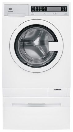 Electrolux - 2.4 Cu. Ft. 6-Cycle High-Efficiency Compact Front-Loading Washer with Steam - White - Larger Front Depth With Door Open42 inches Height33.5 inches Width23.63 inches Depth25 inches Weight174 pounds
