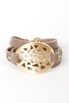 Tri Leather Wrap Bracelet