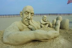 Carl Jara's Sand Sculptures