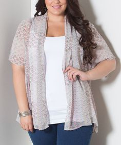 Look at this #zulilyfind! Pink Bella Open Cardigan - Plus by Sealed With a Kiss Designs #zulilyfinds