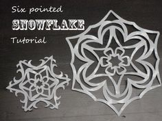 Don't make your snowflakes with 4 sides like you did in 3rd grade!  How to make six-sided paper snowflakes.  These are beautiful!