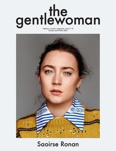 Actress Saoirse Ronan poses on the fall-winter 2015 cover of The Gentlewoman magazine photographed by Alasdair McLellan. Editorial Layout, Editorial Design, Space Matters, Magazine Wall, Magazine Layouts, The Lovely Bones, Lovely Eyes, Magazin Design, Books
