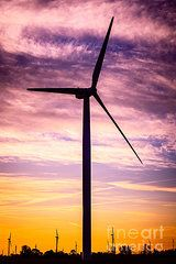 Indiana Art - Wind Turbine Picture on Wind Farm in Indiana by Paul Velgos
