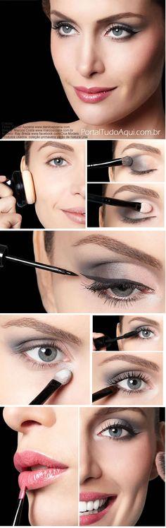 How to Apply Grey Eyeshadow-Soft Smokey Eye Tutorial – Toptrendpin Black Smokey Eye Makeup, Soft Smokey Eye, How To Make Hair, Eye Make Up, Grey Eyeshadow, Hair Makeup, Makeup Tips, Smokey Eye Tutorial, Stunning Makeup