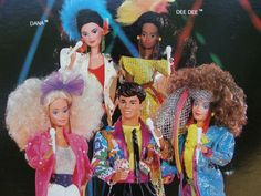 I had the entire Barbie and the Rockers set.  I even had a Ken doll, that had rooted hair.