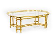 Brass Bamboo Coffee Table