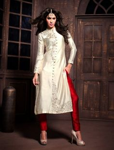Buy Party wear Semi Stitched Designer Suit with Dupatta at saloni fashions.