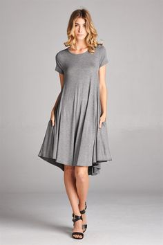 Modal Jersey Knee Length dress with pockets