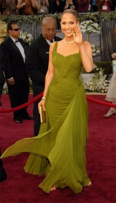 Jennifer Lopez in Jean Desses, 2006, at the Academy Awards (Oscars)    A favorite from JLo's Oscar choices.