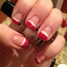 I did my nails for Christmas!!