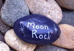 **Moon Rock**Hand Painted Rock Novelty from Bohemian CraftWorks