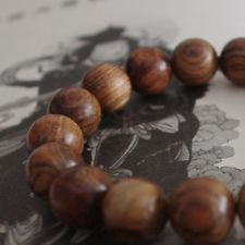10mm Natural Primary Fragrant Rosewood Sandalwood Round Bead Elasticity Bracelet
