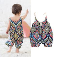 b4e96fd66a61 Buy Floral Newborn Infant Baby Girl Sleeveless Bohemia Romper Outfits  Clothes Summer at Wish - Shopping Made Fun