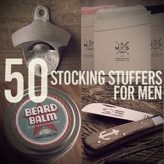 50 Stocking Stuffer Ideas for Men. Has a link to The Art of Manliness stocking stuffer article. This is THE BEST list I've seen! Christmas Time Is Here, Christmas And New Year, Winter Christmas, All Things Christmas, Christmas Crafts, Xmas, Christmas 2017, Christmas Shopping, Merry Christmas