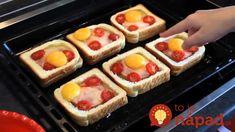 Zabudnite na obyčajné obložené chlebíky: Keď ich pripravíte takto, vaši hostia vás budú nosiť na rukách! Sweet And Salty, Waffles, Chicken Recipes, Toast, Food And Drink, Lunch, Cooking, Breakfast, Health