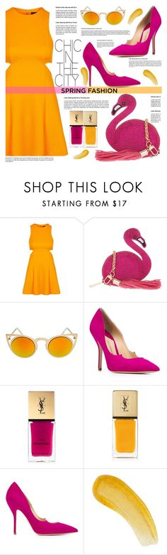 """""""spring fashion"""" by nata91 ❤ liked on Polyvore featuring Topshop, Skinnydip, Paul Andrew, Yves Saint Laurent, Natura Bissé and springdress"""
