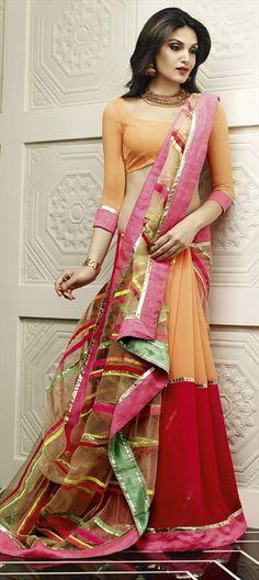 146932: #saree #multicolor #gotapatti #partywear #Diwali #sale #onlineshopping #festive #ethnic #womenswear #designer #gold #stripes #zari #Lace