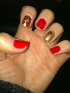 V - day nails by me