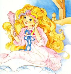 """Lovely Lady Locks -- I was showing my fiancee my """"born in the board, asking him what he remembered. He points at this and says, """"no to the hairbrush thing. Manga Comics, Retro Toys, Vintage Toys, Lady Lockenlicht, Kids Am, 1980 Cartoons, Lady Lovely Locks, Anime Child, Old Anime"""