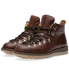 Fracap M120 Ripple Vibram Sole Scarponcino Boot (Dark Brown)
