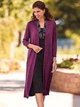 2-In-1 Sweater Jacket Dress   Blair grape wine