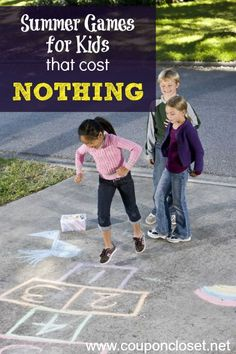 Beat the summer boredom blues with these fun games for kids that won't cost you a thing.