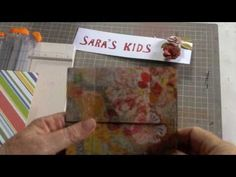 This video show how to make a never ending fold and how to incorporate it on a scrapbook page.