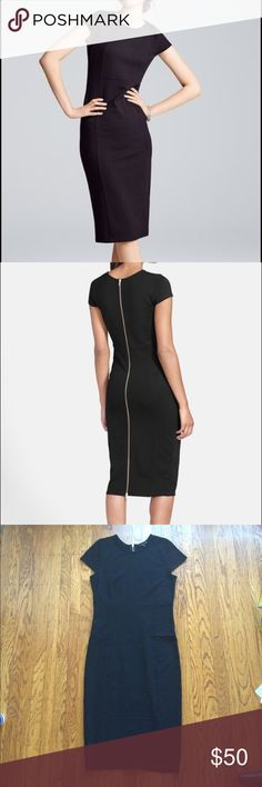 """Felicity & Coco pencil dress Beautiful felicity and coco black dress with exposed gold zipper. Can be dressed up or down, and great condition! Bust 33"""", waist 30"""" hips 34"""". Fabric provides stretch Felicity & Coco Dresses"""