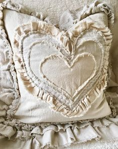 Excited to share this item from my shop: Canvas Custom Pillows Cover with Sayings Case w Ruffles Heart Pillow French Country Farmhouse Decor Wedding Birthday Christmas Gift French Country Bedding, French Country Bedrooms, French Country Living Room, French Country Farmhouse, French Country Style, French Country Decorating, Farmhouse Bed, French Cottage, Modern Farmhouse