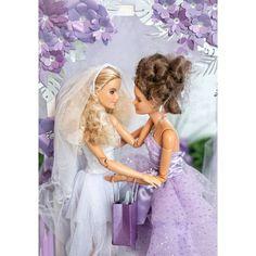 Barbie Wedding Dress, Barbie Dress, Wedding Dresses, Barbies Pics, Bride Dolls, Beautiful Barbie Dolls, Collector Dolls, Doll Crafts, Newlyweds