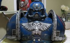 Part of the Space Marine armour. Amazing and incredible cosplay by garysterley.com | costuming & props