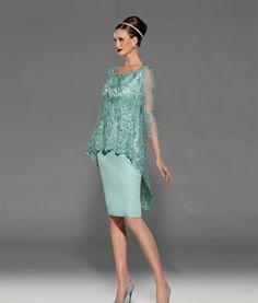 Teresa Ripoll aqua lace dress