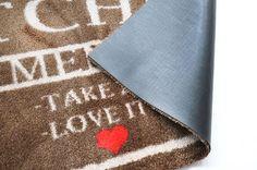 """Küchenteppich """"Menü mit Liebe"""" in 50 x 150 cm, 67 x 110 cm oder in 67 x 170 cm"""