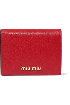 Miu Miu - Textured-leather Wallet - one size