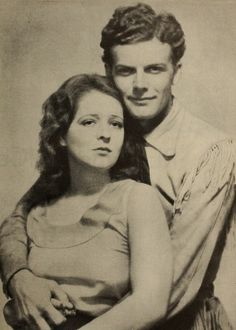 Clara Bow and husband Rex Bell. The fire is gone from her eyes at this point