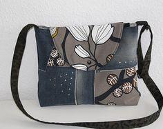 Jeans bolso bandolera flores por AWNaehwittchen en Etsy