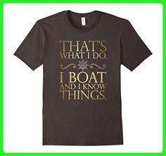 Mens I Boat I Drink And I Know Things T-Shirt Medium Asphalt - Food and drink shirts (*Amazon Partner-Link)