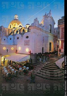 Italia - Región Campania - Isla de Capri - Capri - La Piazzetta - Plaza de Capri