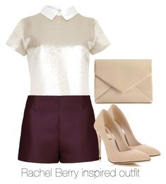 Rachel Berry inspired outfit/Glee by tvdsarahmichele on Polyvore featuring Raoul, Valentino, Miss Selfridge, rachelberry, glee and leamichele