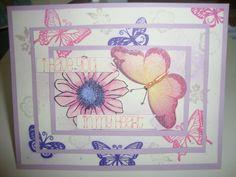 Butterfly birthday card.