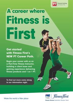 Become a Personal Trainer with Fitness First.