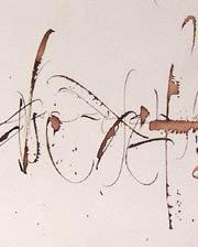 calligraphie, cola-pen, gestuelle, alphabets, lettres, stages et cours, mail-art, enveloppes calligraphies, logos, calligraphy