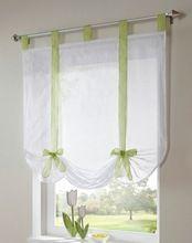 Frete grátis nova chegada tab top Sheer cozinha porta cortina patchwork liftering cortinas romanas(China (Mainland))