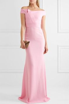 Pastel-pink wool-crepe  Zip fastening along back  100% wool; lining: 93% silk, 7% elastane  Dry clean Made in the UK